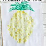 Finger Paint Pineapple Art Project