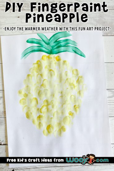 Finger Paint Pineapple Art Project
