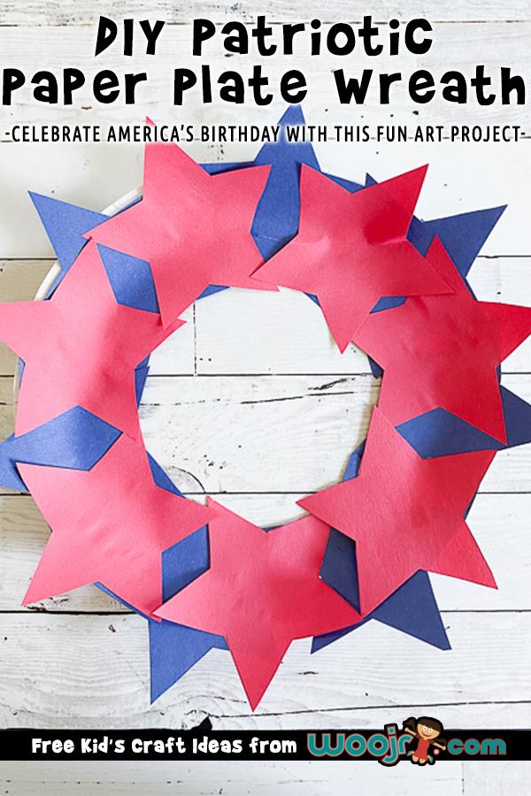 DIY Patriotic Star Wreath Project