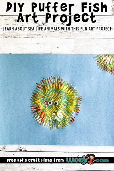 Fork Paint Puffer Fish Art Project