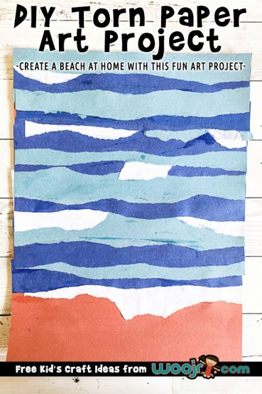Torn Paper Beach Art Project