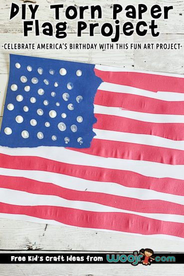 Torn Paper Flag Art Project
