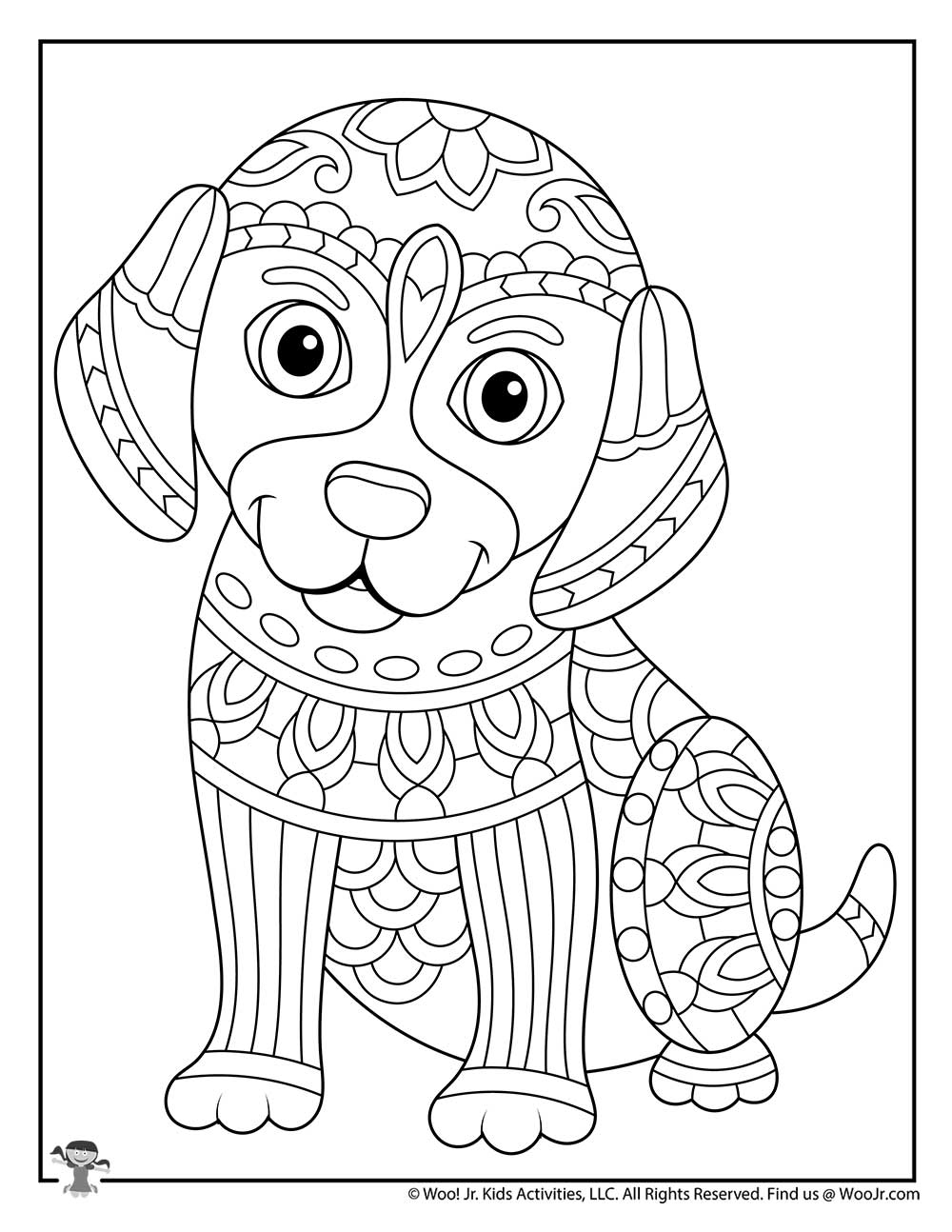Puppy Dog Animal Adult Coloring Page | Woo! Jr. Kids ...