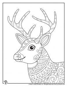 Adult Coloring Printable Deer