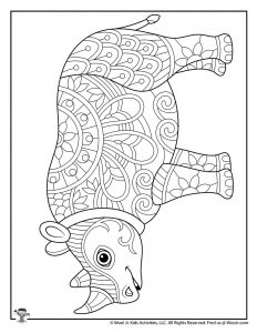 Adult Coloring Endangered Animals