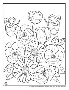 Flowers for Spring Coloring for Teens