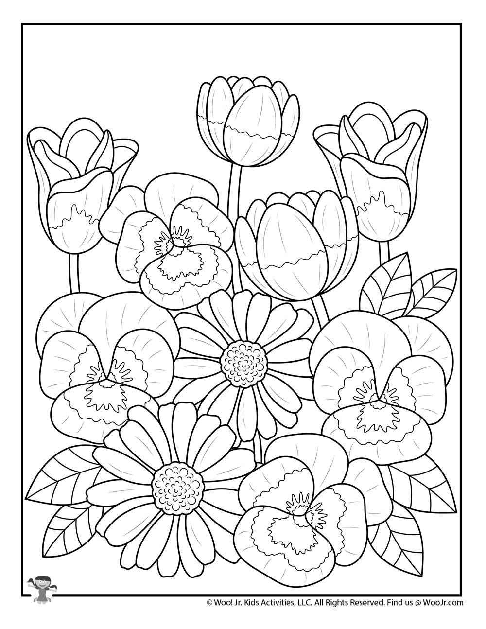 - Flowers For Spring Coloring For Teens Woo! Jr. Kids Activities