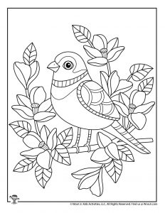 Spring Adult Coloring Pages Woo Jr Kids Activities