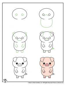 Draw a Cute Pig