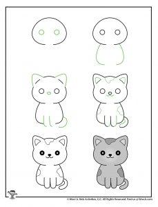 Draw a Kawaii Kitten