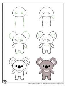 Draw a Koala Kids Printable