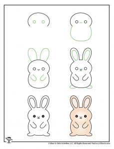 Bunny Drawing Step by Step Kids