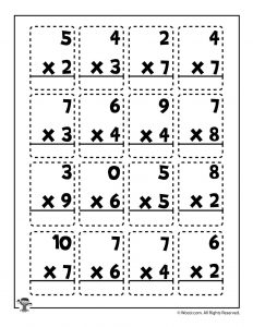 Multiplication Math Practice Page