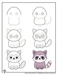 Kawaii Animal Drawing Tutorials