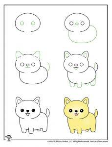 Kawaii Kitty How to Draw