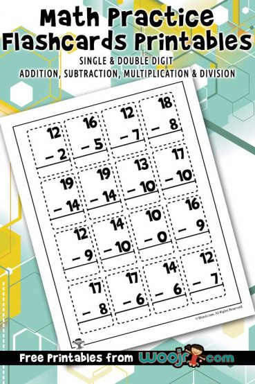 Math Practice Flashcards Printables