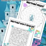Mermaid Activity Pages for Kids