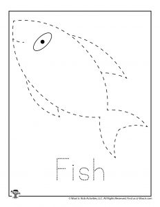 Fish Letter Tracing Worksheet for Kids
