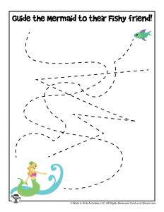 Ocean Mermaid Line Tracing Activity