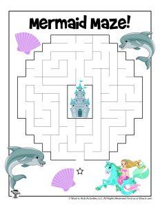 Mermaid Maze for Kids