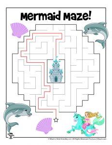 Mermaid Maze for Kids - KEY