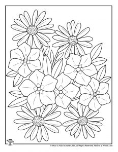 Spring Adult Coloring Pages Free