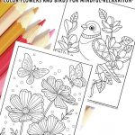 Spring Adult Coloring Pages