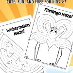 Printable Summer Mazes for Kids