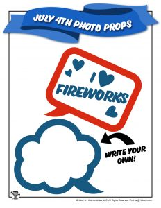 4th of July Printable Speech Bubble