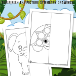 Animal Mirror Drawing Worksheets