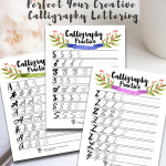 Calligraphy Practice Tracing Worksheets
