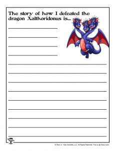 Creative Writing Dragon Assignment