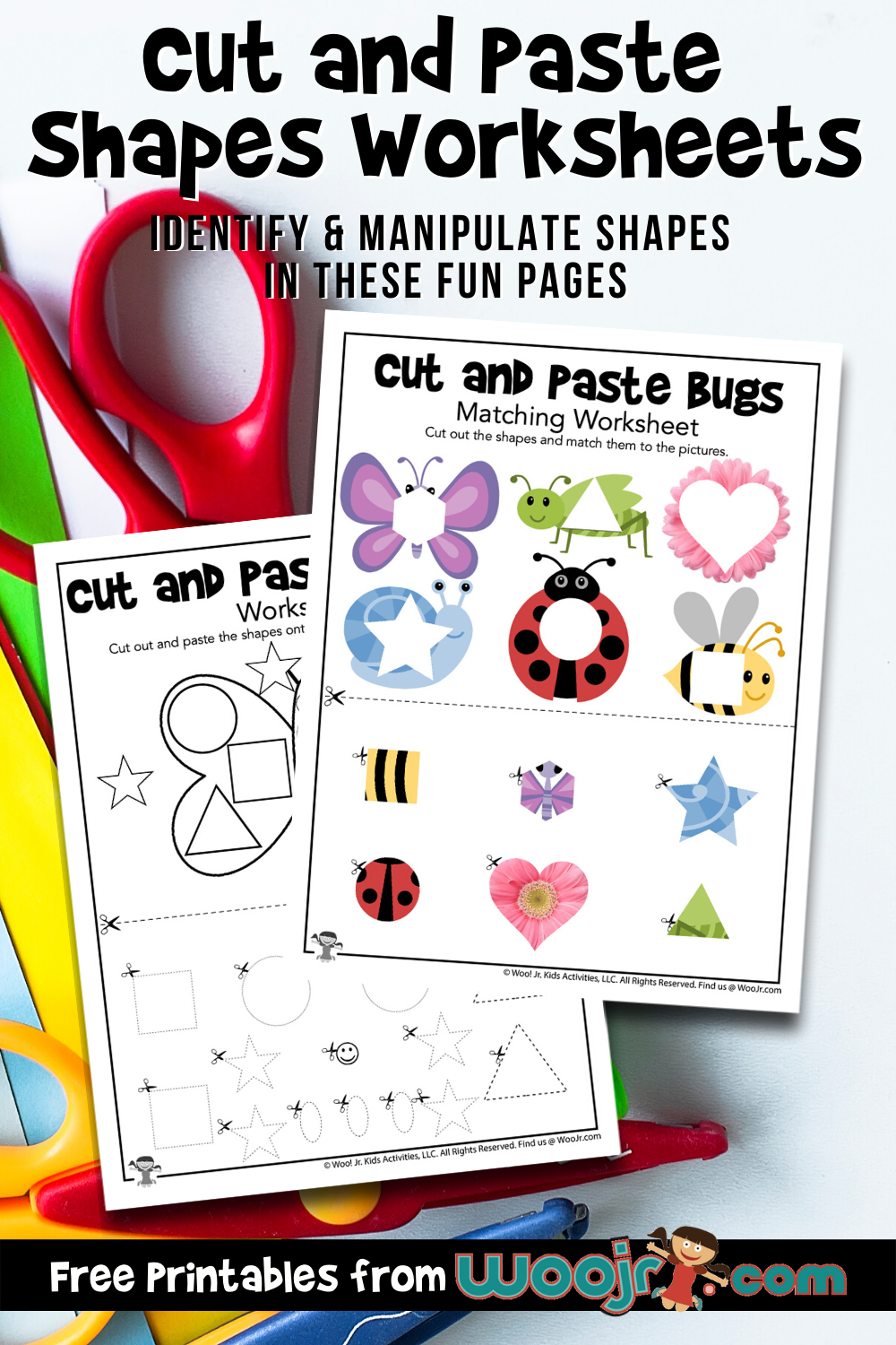 Cut and Paste Shapes Worksheets   Woo Jr. Kids Activities