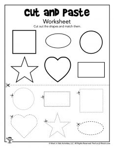 Cut and Paste Matching Shapes Worksheet