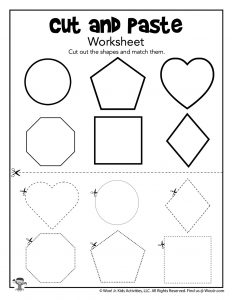 Matching Shapes Worksheet for Preschooler