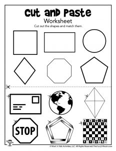 Cut and Paste Matching Shapes Activity