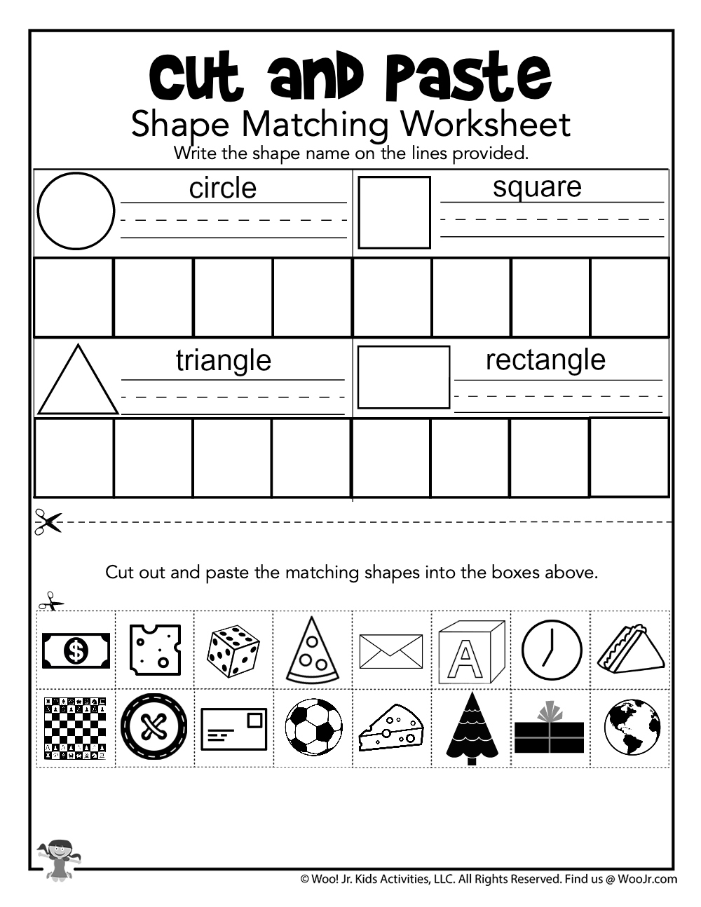 Cut and Paste Shape Matching Practice   Woo Jr. Kids ...