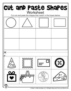 Shape Sorting Cut and Paste Printable