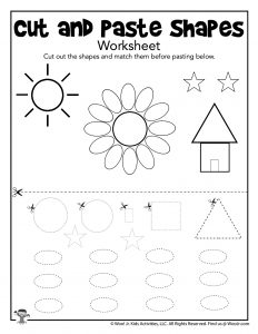 Preschool Cut and Paste Worksheet