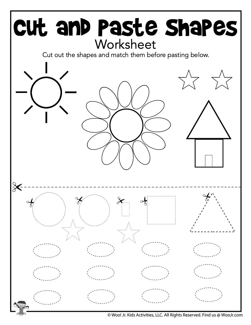 Preschool Cut And Paste Worksheet Woo Jr Kids Activities Children S Publishing
