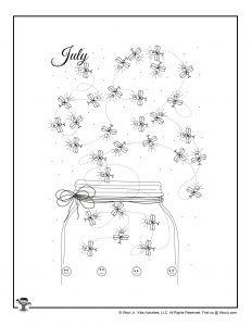 July Fireflies Printable Mood Tracker