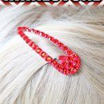 DIY Rhinestone Hair Clips
