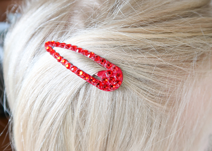 DIY Rhinestone Hair Clips