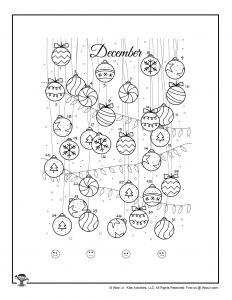 December Ornament Printable Mood Tracker