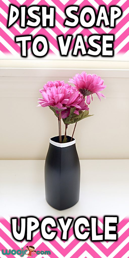 Dish Soap To Vase Upcycle