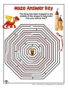 Dragon Maze Puzzle - ANSWER KEY