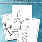 Faces & Emotions Symmetry Drawing Worksheets
