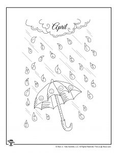 Free April Showers Mood Tracker