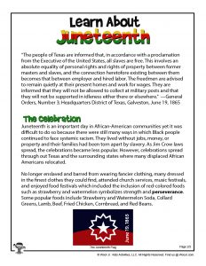 Juneteenth History Printable Part 2