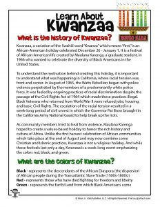 History of Kwanzaa